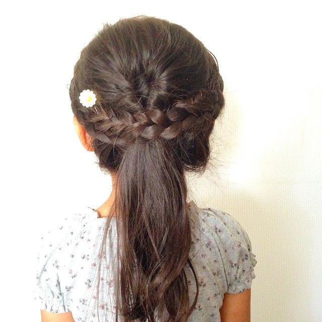 クルリンパとサイド編み込み プリンセス風に Kids Hair Daily