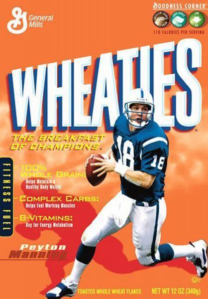 wheaties box Fantasy football, Manning, Fantasy football