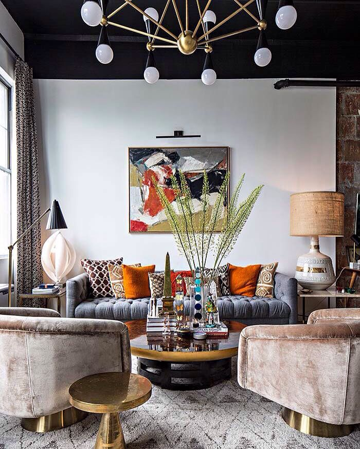 The Brooklyn Loft Of Jonathan Adlers Director Interiors Benjamin BroughamI Love Balance Clean Paint In Black And White Then Eclectic