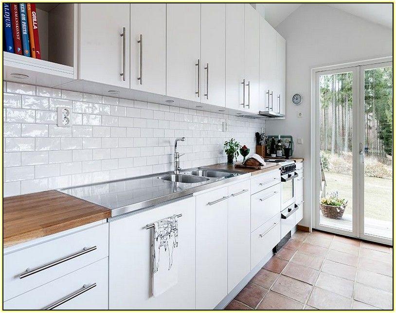 White Brick Tile Google Search White Tile Kitchen Backsplash