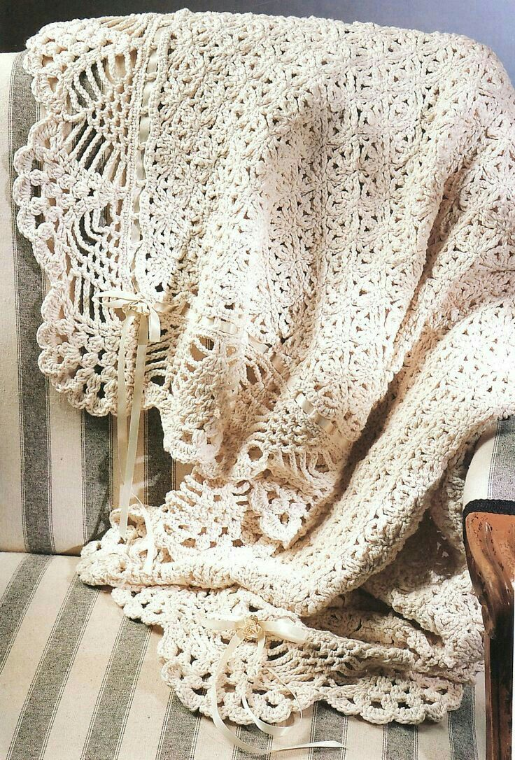 Modern Crochet Lace Afghan Pattern Ensign - Easy Scarf Knitting ...