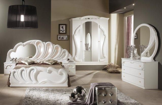 Italienisches Schlafzimmer ~ Dormitor italian : zafiro este disponibil in varianta cu dulap in