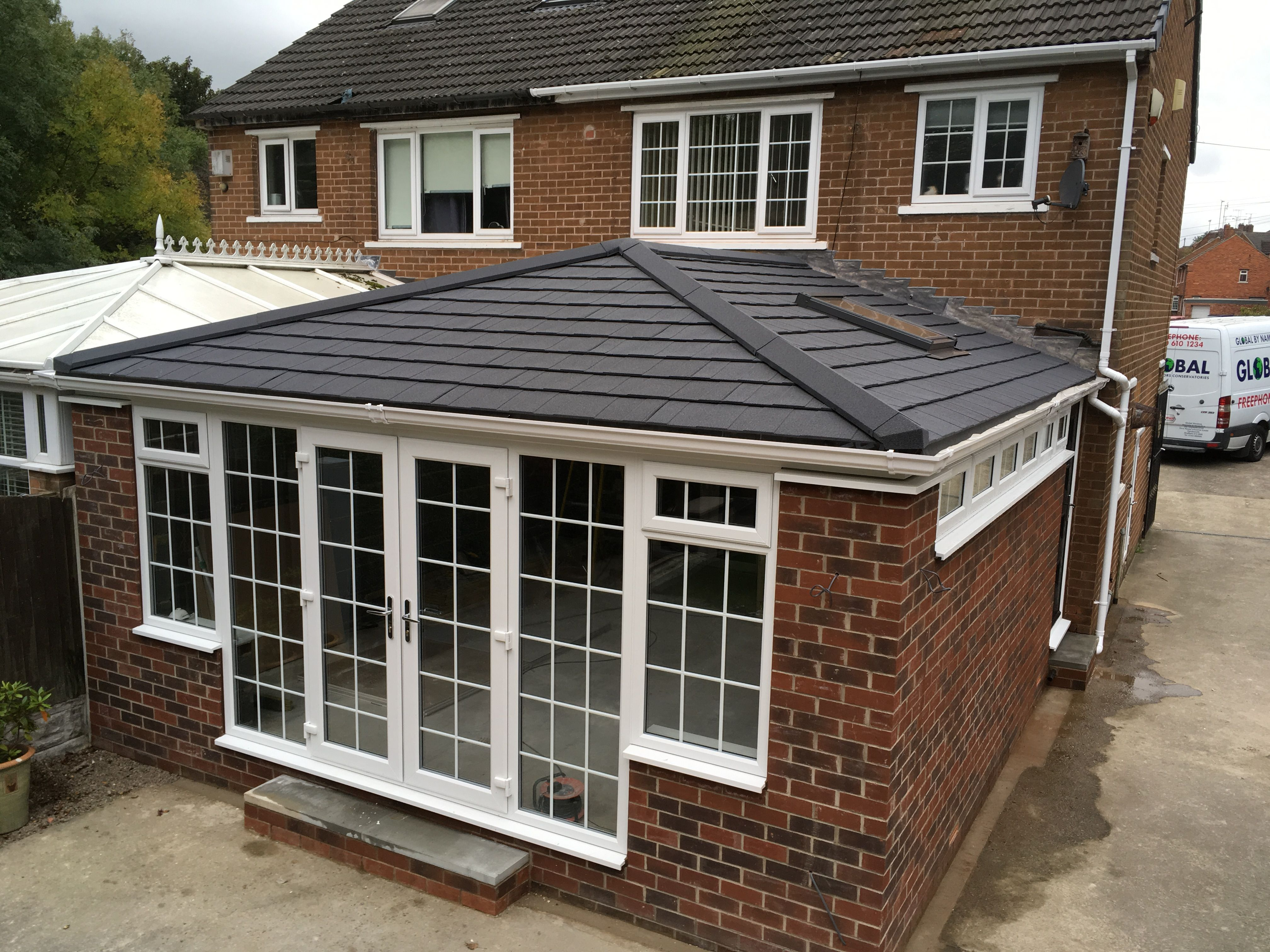 Newly Built Conservatory With Guardian Warm Roof And Georgian Bar Upvc French Doors And Windows Upvc French Doors Double Glazing Warm Roof