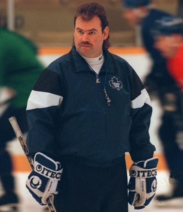 Coach Pat Burns Toronto Maple Leafs Toronto Maple Leafs Hockey Maple Leafs Hockey
