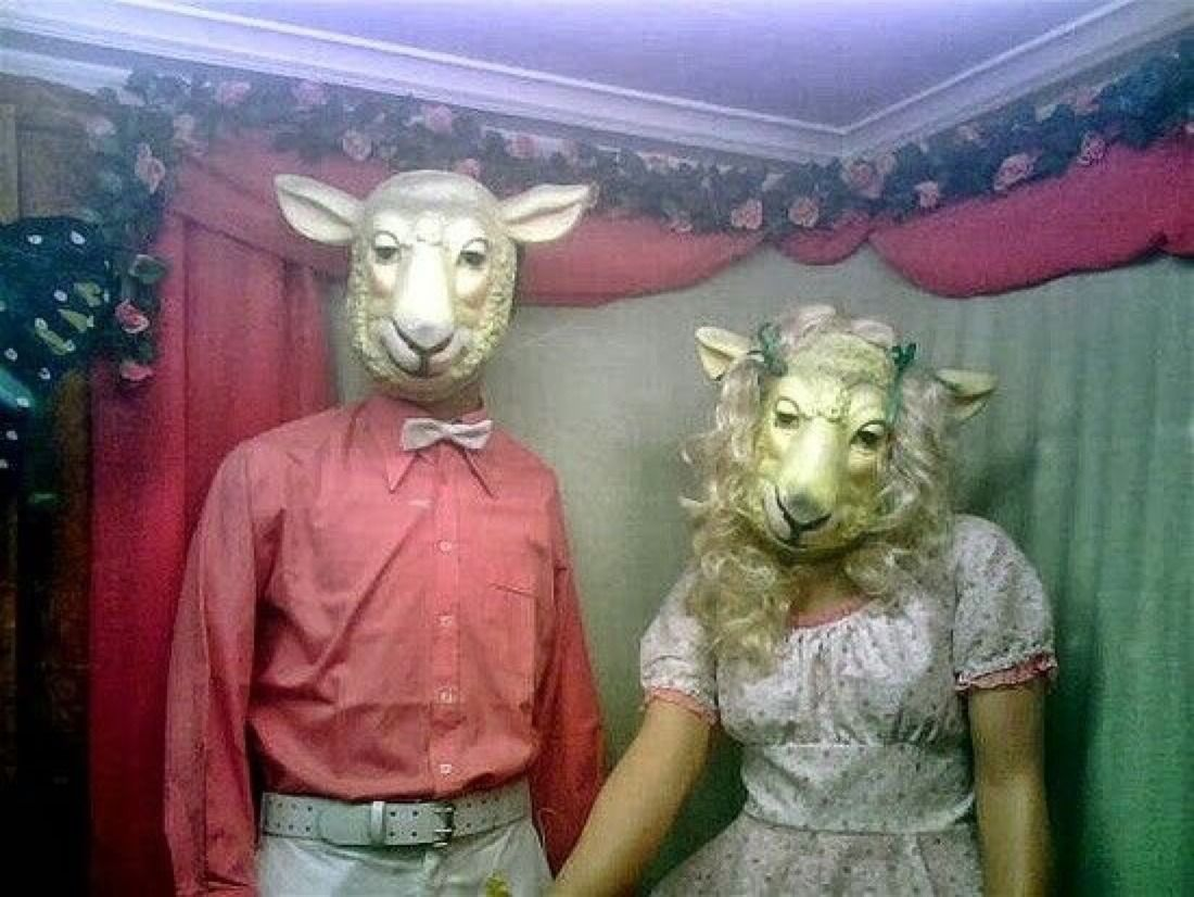 thingsfromthedirt Creepy pictures, Animal masks, Animal