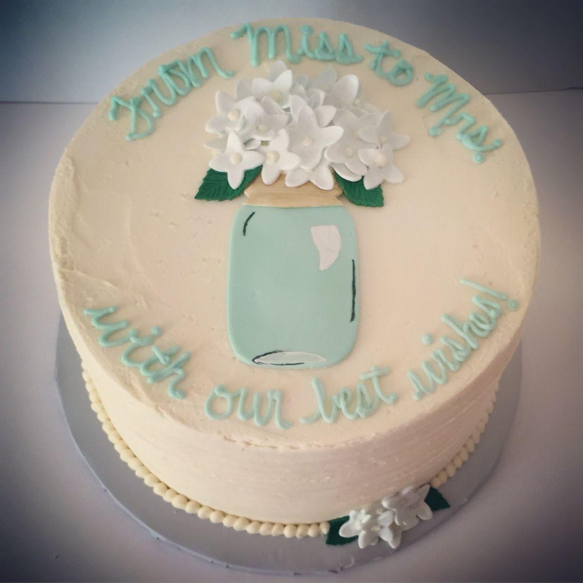 Mason Jar Rustic Buttercream Cake Bridal Shower Cake With Images