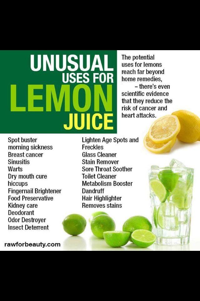 ✨✨Unusual Uses For Lemon Juice✨✨