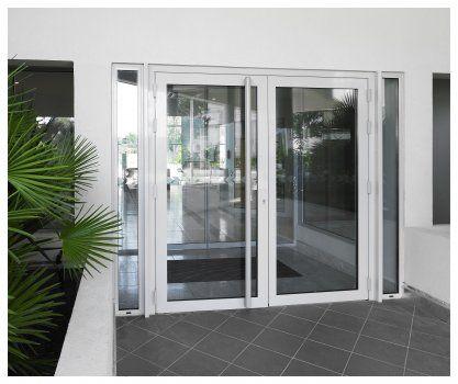 Porte Plane Aluminium Mm Par Sepalumic Porte Dentrée En - Porte aluminium