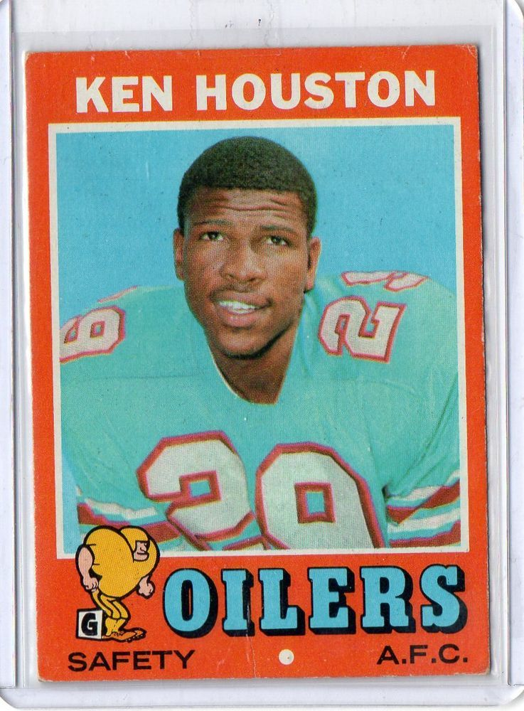 1971 topps ken houston rookie card houston oilers