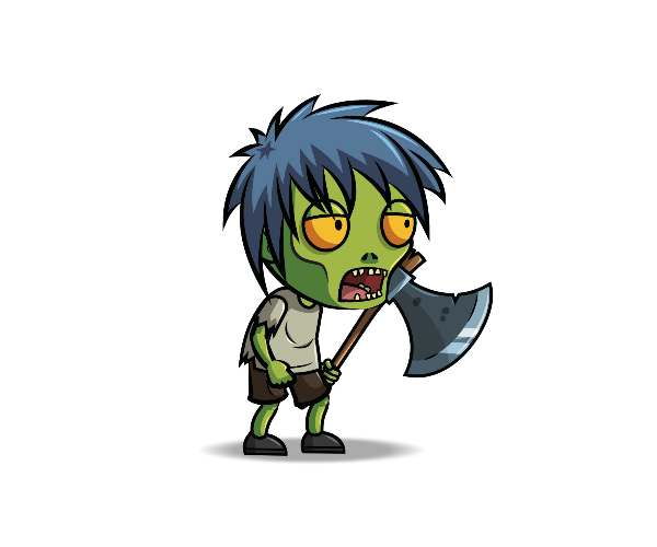 Anime Zombie Characters : Anime zombie royalty free game art  monster
