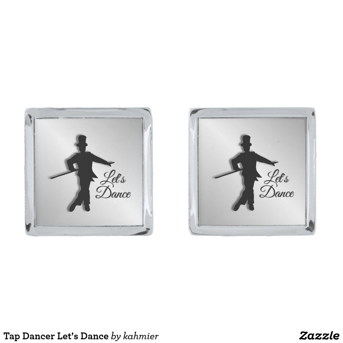 Tap Dancer Let's Dance Silver Cufflinks