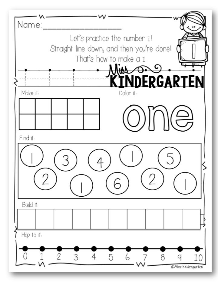 Number Practice Little Number Books 1 20 Miss Kindergarten Numbers Kindergarten Miss Kindergarten Teaching Kindergarten