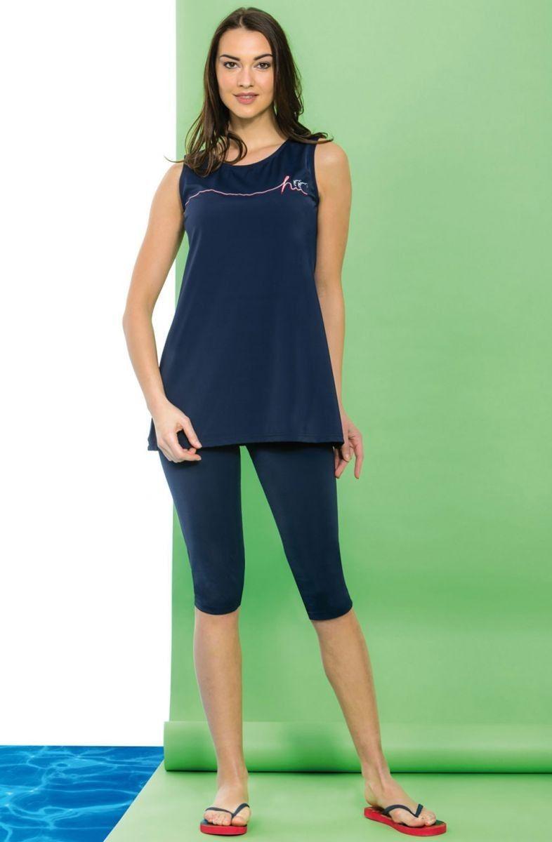 Hasema Kap Mayo Lacivert Hasema Tesettur Mayo Sort Modelleri 2020 Athletic Tank Tops Dresses For Work Fashion