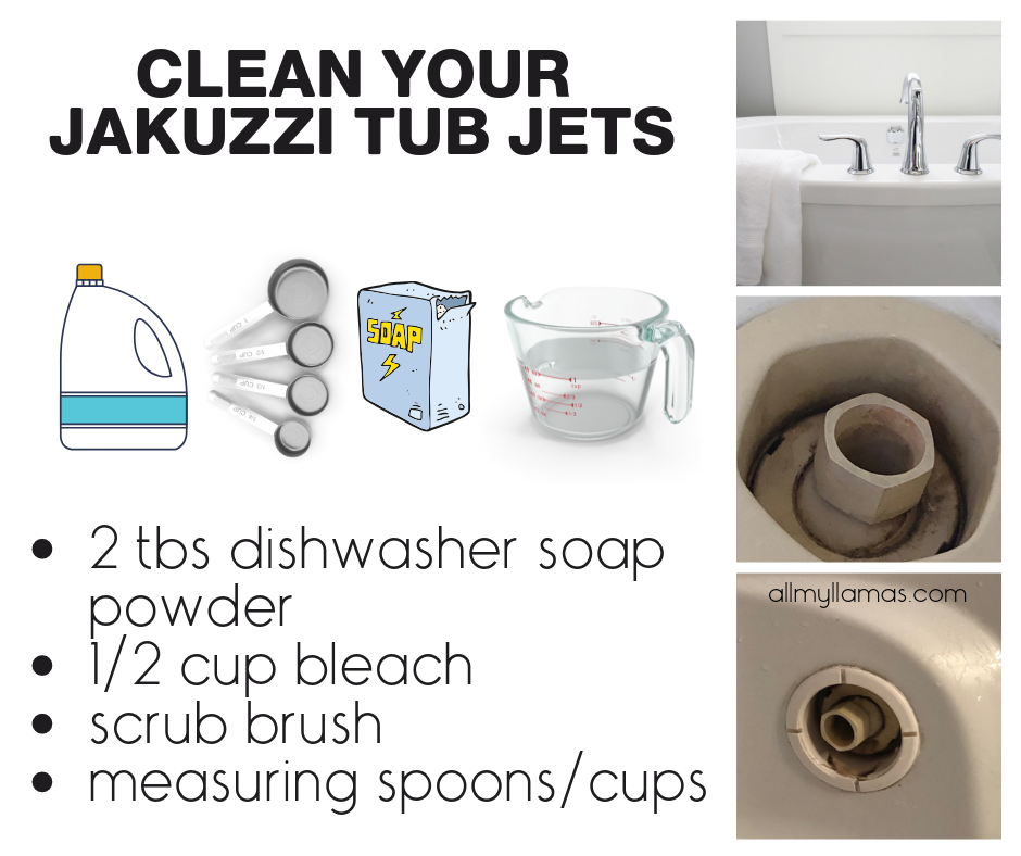 How To Clean Your Jacuzzi Tub Jets Life With Kids Unfiltered Cleaning A Jacuzzi Tub Clean Jetted Tub Jacuzzi Tub