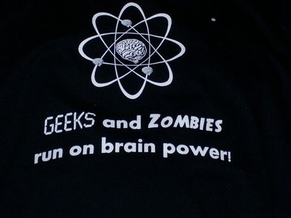 Geeks and Zombies Black Tee Shirt Large by MegaZombieStore on Etsy - StyleSays
