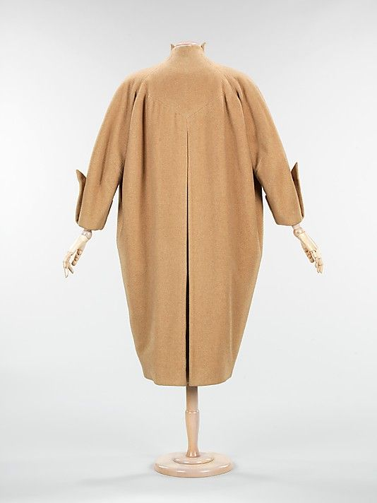 Coat...Charles James  (American, born Great Britain, 1906–1978) Date: ca. 1950 Culture: American Medium: wool Dimensions: Length at CB: 47 in. (119.4 cm) Credit Line: Brooklyn Museum Costume Collection at The Metropolitan Museum of Art, Gift of the Brooklyn Museum, 2009; Gift of Muriel Bultman Francis, 1968 Accession Number: 2009.300.462