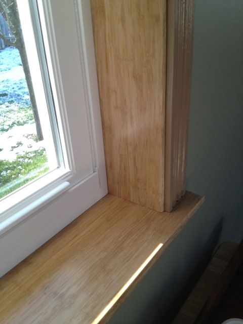 Leftover Fossilized Natural Bamboo Flooring Used To Make A Window