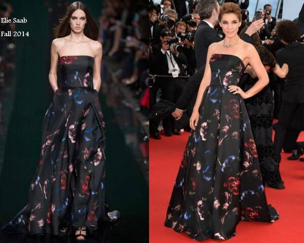 Clotilde Courau In Elie Saab - 'How To Train Your Dragon 2′ Cannes Film Festival Premiere. Re-tweet and favorite it here: https://twitter.com/MyFashBlog/status/467381548711305216/photo/1