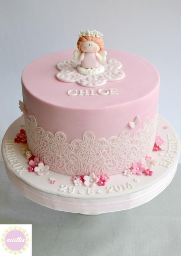 White & Pink Angelic Christening Cakes & Cake Decorating ...