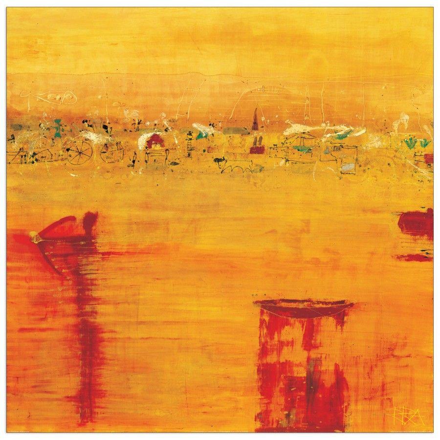 RICHTER ARMGART Orange Landscape (70x70 cm / 100x100
