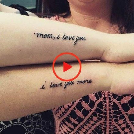 Tattoo matching mother daughter i love you 28+ Ideas