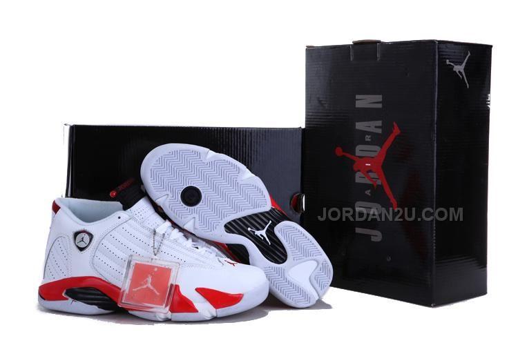 super popular a4253 3c3fb TOP A+ Men s Nike Air Jordan 14 Retro White Blue TAJ14-002 via Polyvore ...