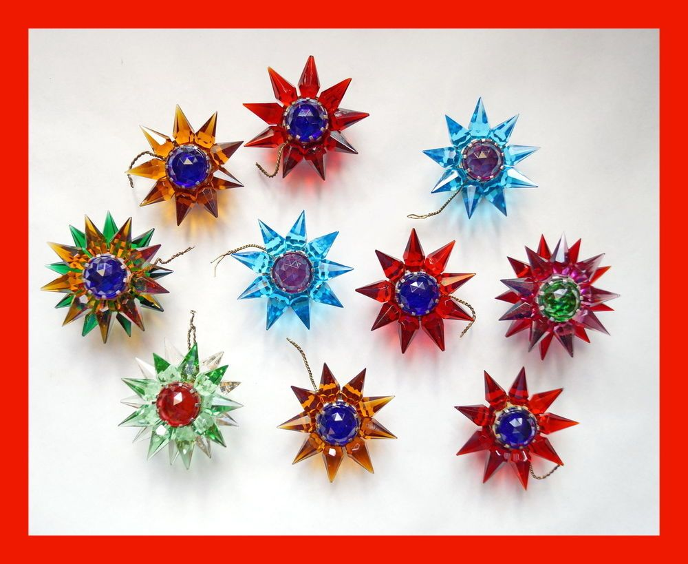 10 Old Matchless Star Xmas Lights - Original around 1930 (# 4113)