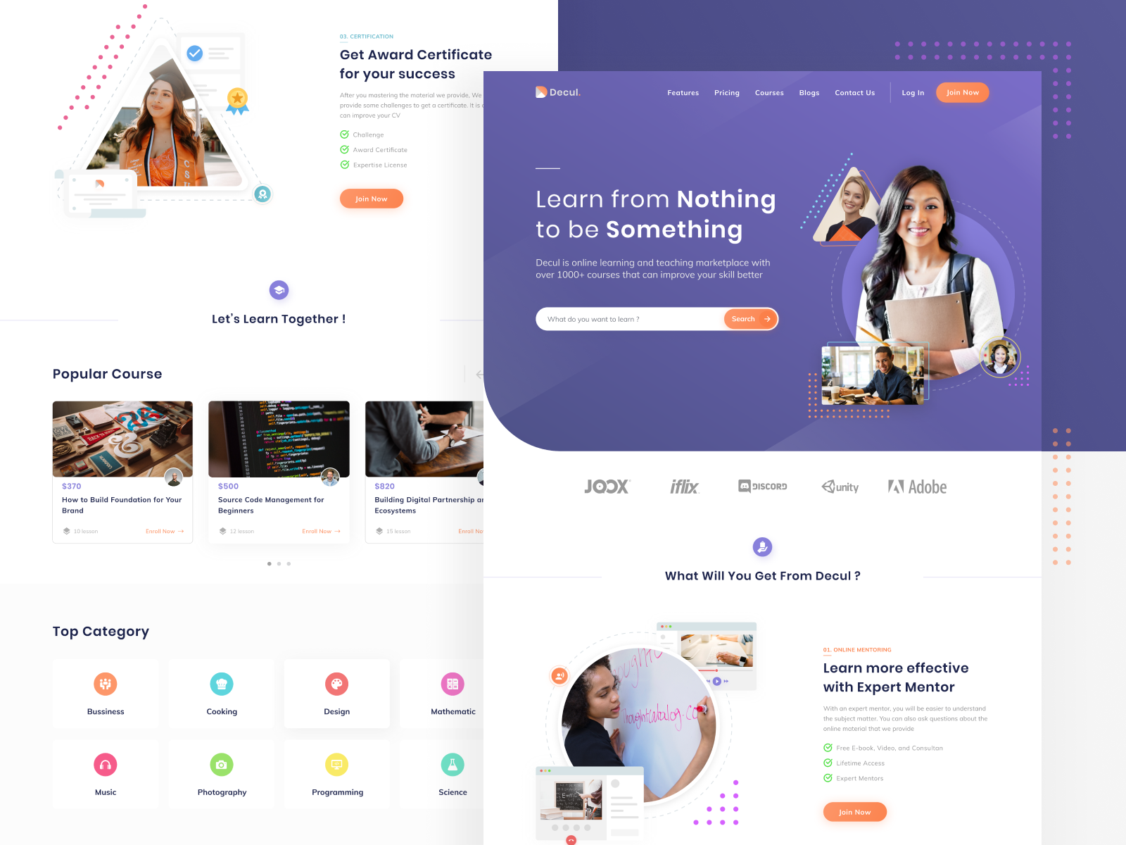 Online Course Website | Online web design, Web design trends website, Online course design