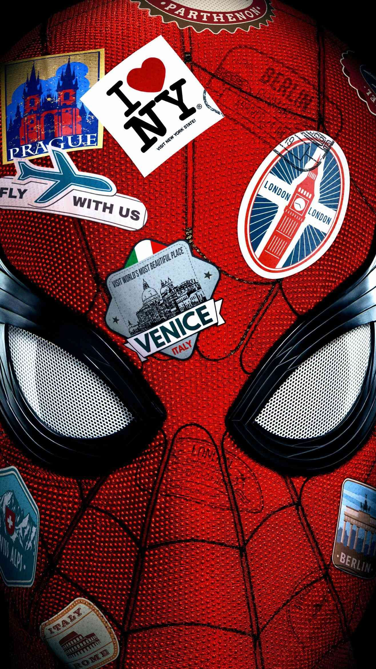 Spiderman Far From Home Poster Iphone Wallpaper Marvel Comics Wallpaper Spiderman Avengers Wallpaper