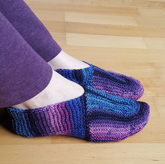 Ravelry: U-Turn Slippers pattern by Sybil R | Knitting: Slippers ...