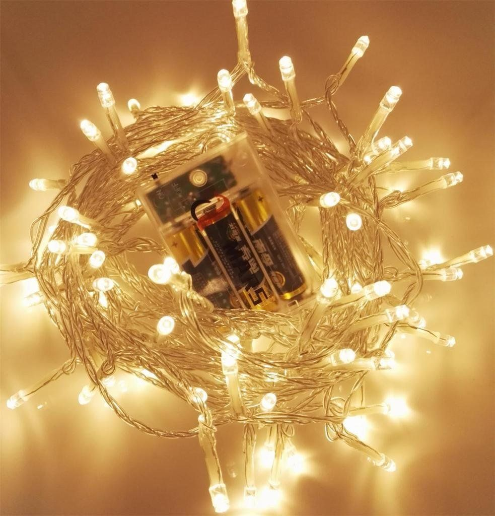 Purchased x2 to wrap wagon wheel chandelier with this and tulle amars waterproof battery poweredoperated led fairy lights led string lights outdoorindoor 3 working modes for christmas party garden wedding aloadofball Images