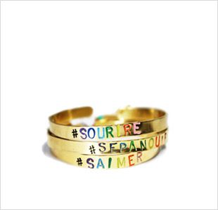 French Stamped Brass Jewelry