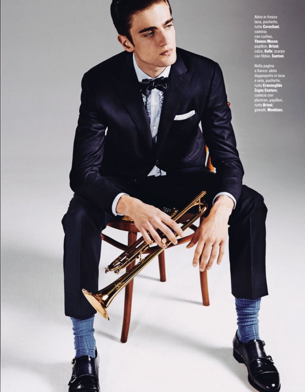 Photo by Marcello Arena Styling Luca Roscini for Style Magazine Italia Suit by…