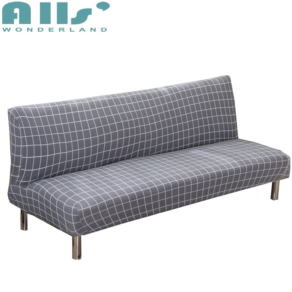 Remarkable Grey Plaid Armless Couch Sofa Covers For Living Room Download Free Architecture Designs Scobabritishbridgeorg