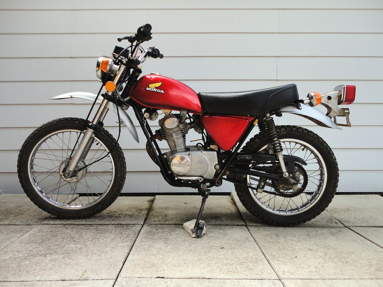 1974 honda xl100 a reiteration of the honda sl100 great all around lightweight enduro. Black Bedroom Furniture Sets. Home Design Ideas