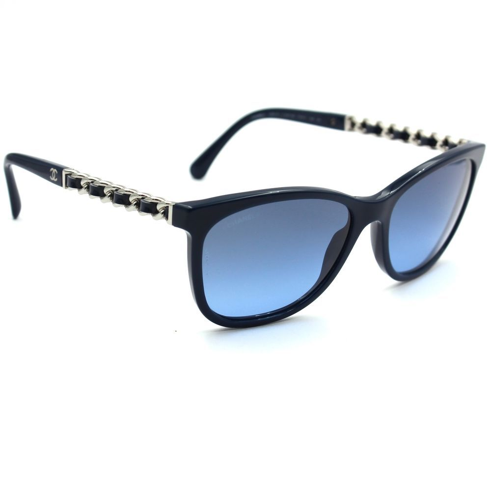 Chanel 5260 Q Square Sunglasses Navy Blue Frame with Blue Gradient ...