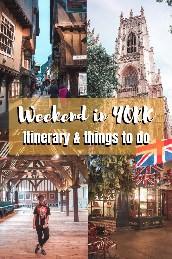 Weekend in York: best things to do in York. #York #England