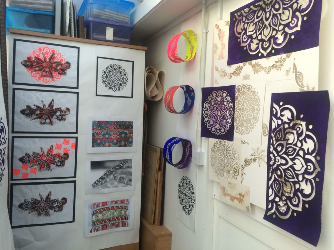 Mehndi For The Inspired Artist : Laser cut mehndi inspired installation a level arr gce and gcse