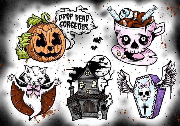 Traditional Halloween Tattoo Flash Halloween Tattoo Flash Flash