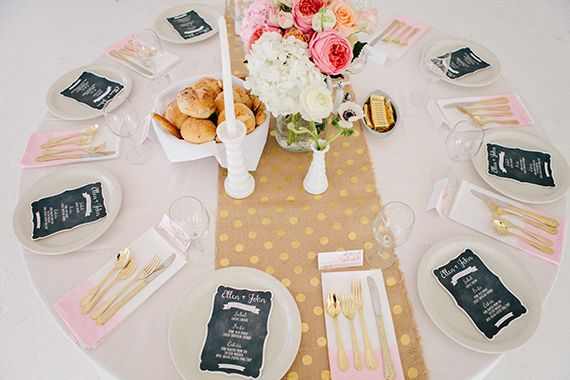 Pink and gold wedding decor | Photo by Sylvia Photography | Read more - http://www.100layercake.com/blog/?p=68388