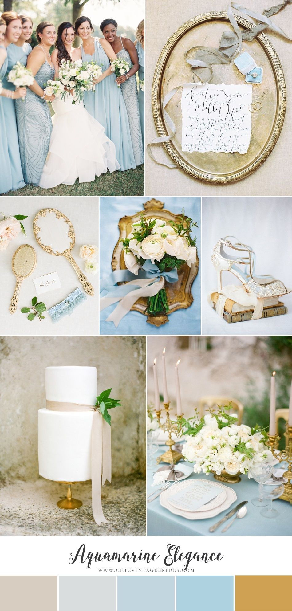 Aquamarine Elegance - Romantic Spring Wedding Inspiration in ...