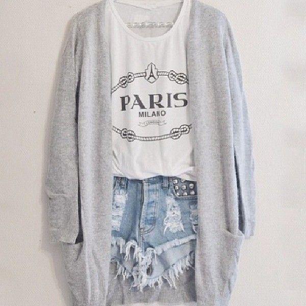 9e67e17990a Shorts  sweater tank top blouse grey