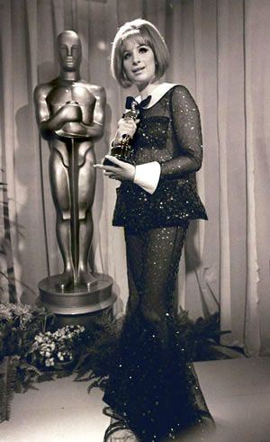 """Latest Funny Girl  1968 - Best actress -Barbra Streisand -""""Funny Girl """" NOTE: A tie. The other winner in this category was Katharine Hepburn 4"""