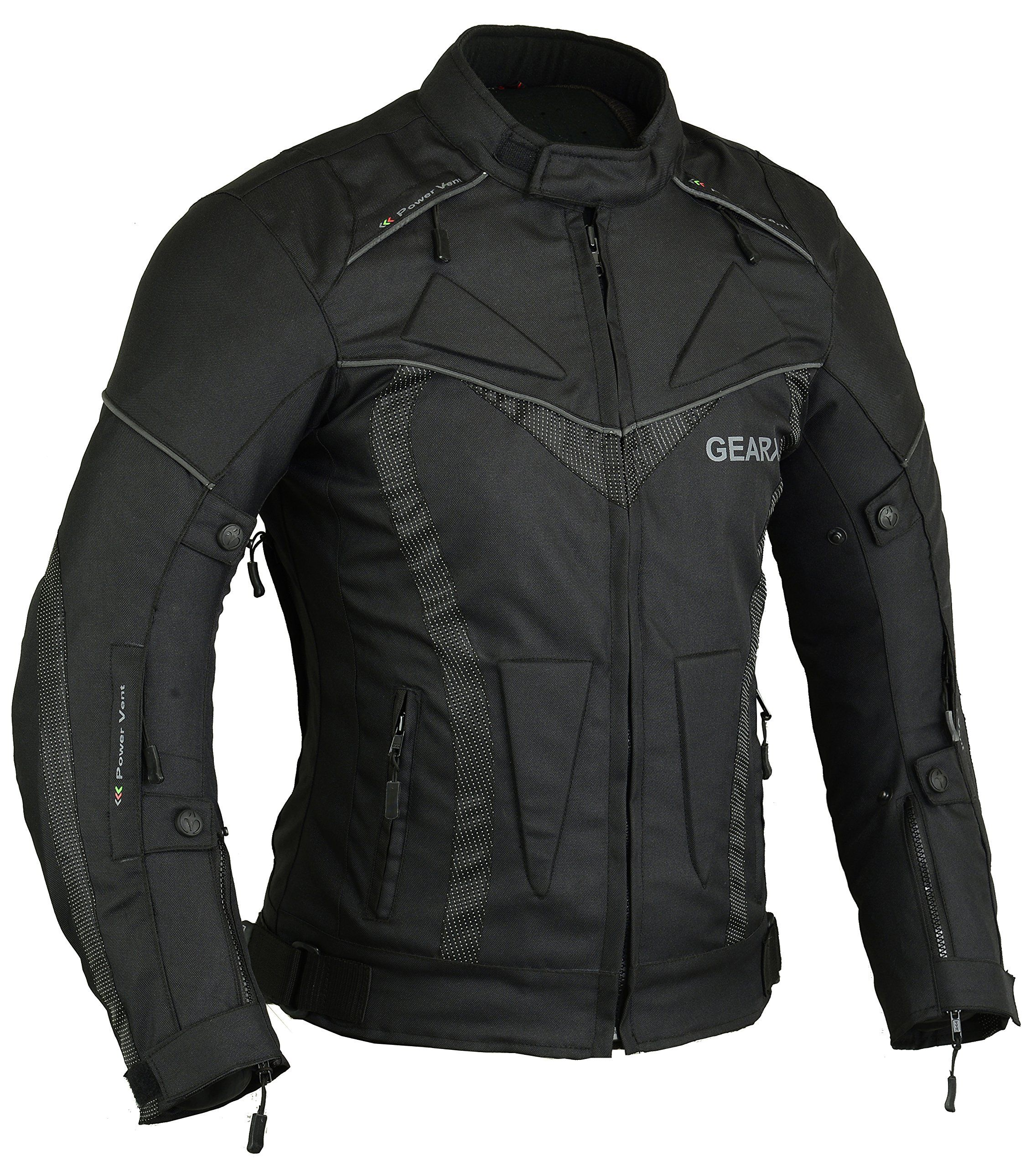 Gearx Aircon Summer Motorcycle Jacket Waterproof CE Protection All ...