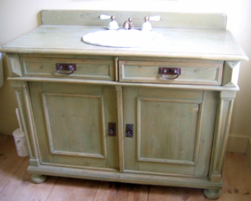 sideboards made into vanity | the country gallery - bathroom