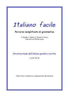 Italiano Facile Difficolta Di Apprendimento Grammatica E