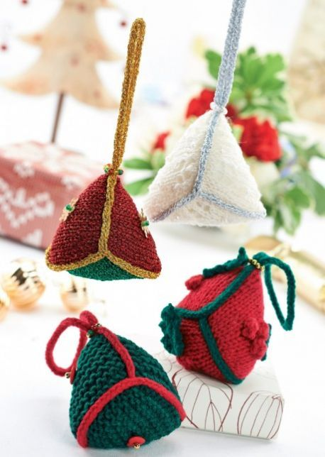 Quick And Easy Free Christmas Decorations Knitting Pattern Misc