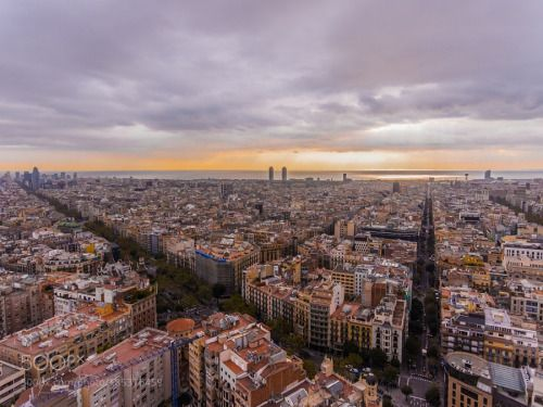 Sunrise Over Barcelona by alexshefferman  IFTTT 500px landscape travel aerial drone