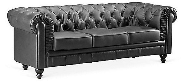 One Kings Lane Downstairs Aristocrat Sofa Black There S No