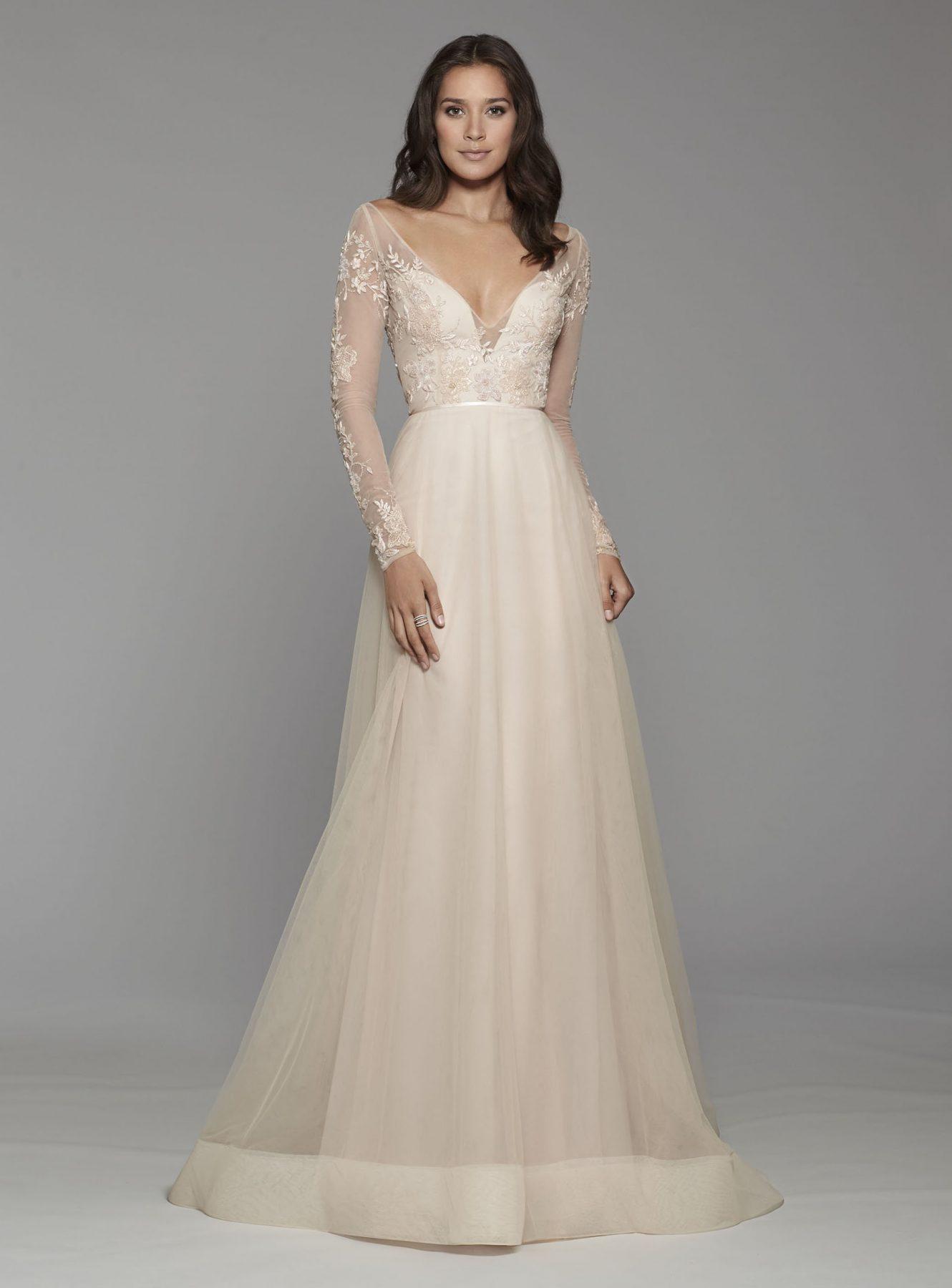 33708405 Bohemian Aline Wedding Dress Kleinfeld Bridal